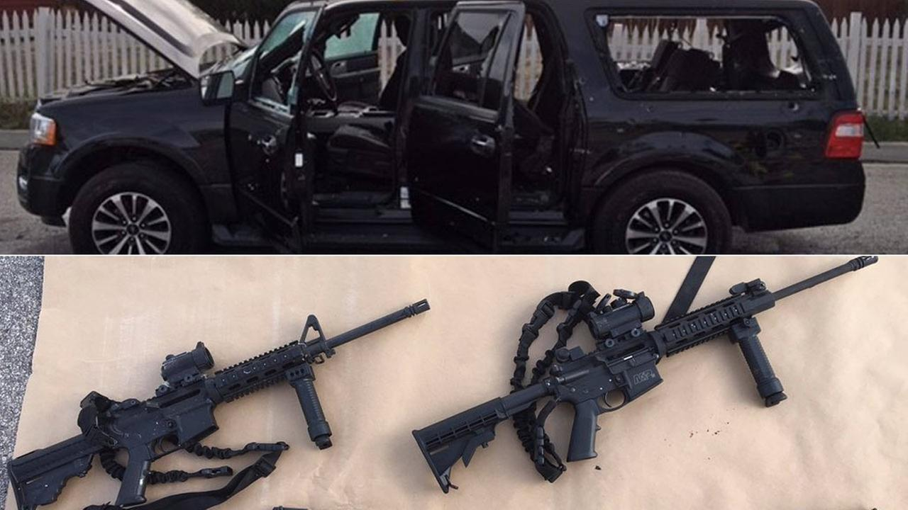 Evidence linked to the San Bernardino mass shooting are seen in photos from the San Bernardino County Sheriffs Department.