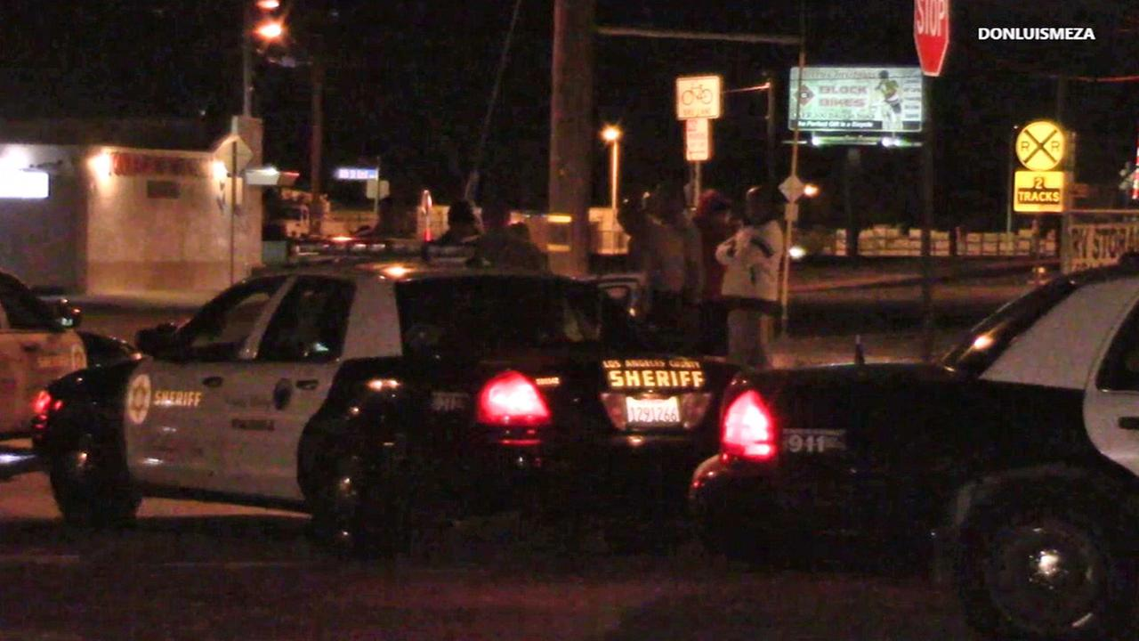 Authorities spoke with a carjacking victim in Palmdale on Thursday, Dec. 4, 2015.