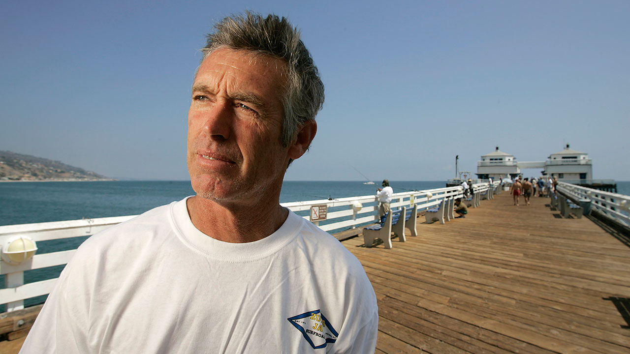 Zuma Jay Surf owner Jefferson Zuma Jay Wagner on the Malibu Pier in Malibu on Monday, August 6, 2007.