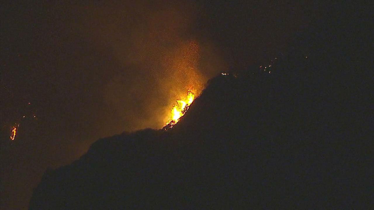 A fire breaks out in Malibu.