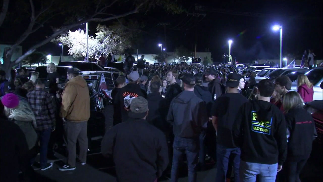 Hundreds attended a vigil Monday night in Thousand Oaks to honor the victims of the deadly mass shooting at Borderline Bar and Grill.