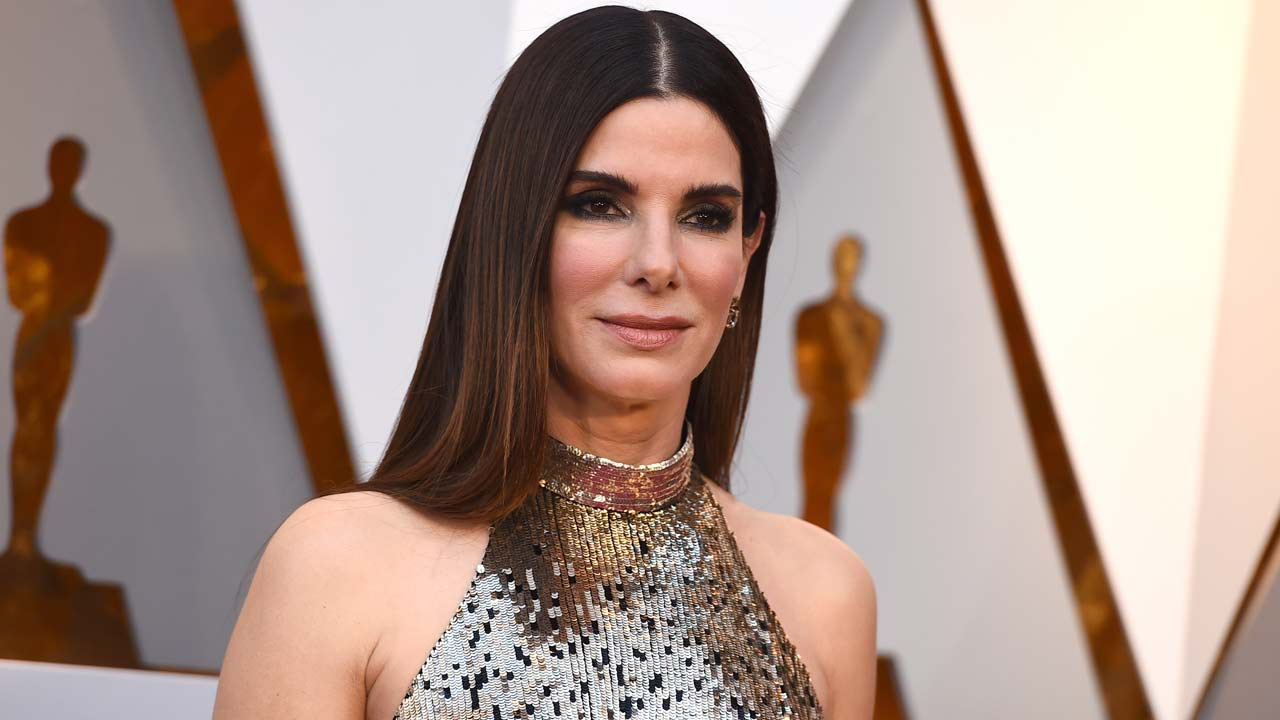 In this March 4, 2018 file photo, Sandra Bullock arrives at the Oscars in Los Angeles.