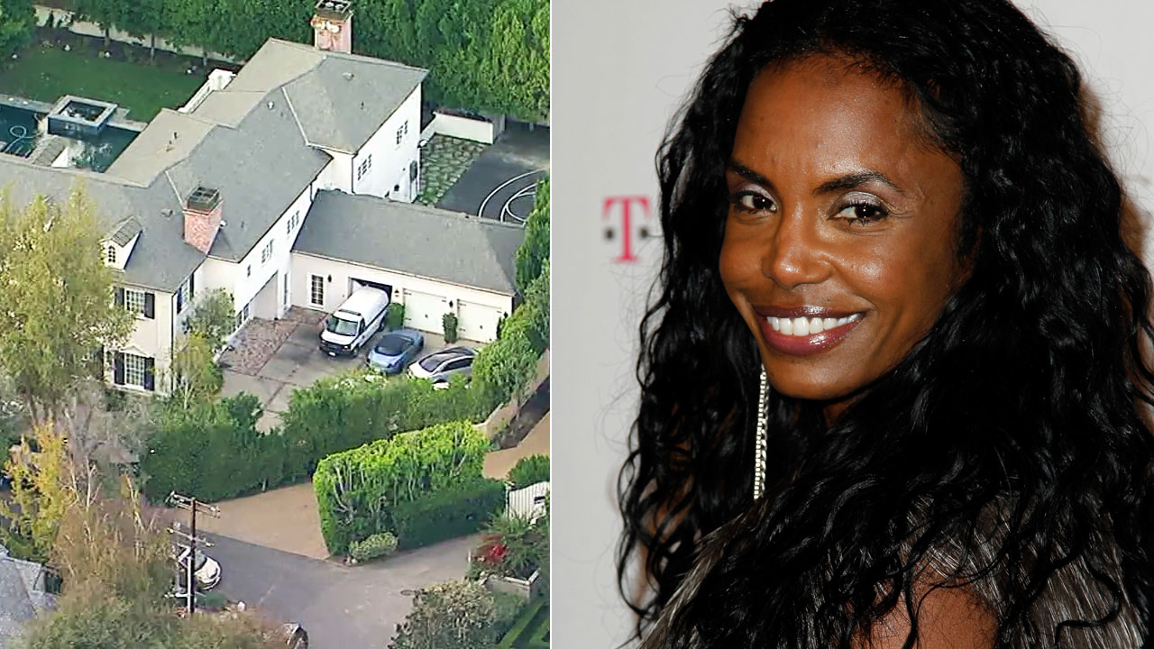 Alongside a photo of her Toluca Lake home is a file photo of Kim Porter arriving at the Google and T-Mobile party celebrating the launch of Google Music, in Los Angeles in 2011.