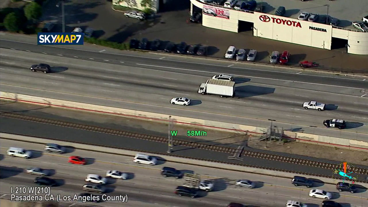 CHP officers were chasing a suspect in a stolen Lexus at high speeds on freeways through LA County.