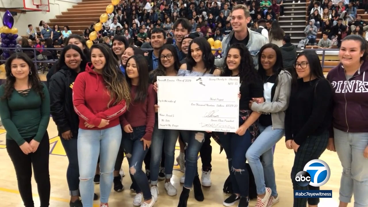 Norwalk High School students packed the gym for a donation pep rally, giving away $20,000 to local charities.