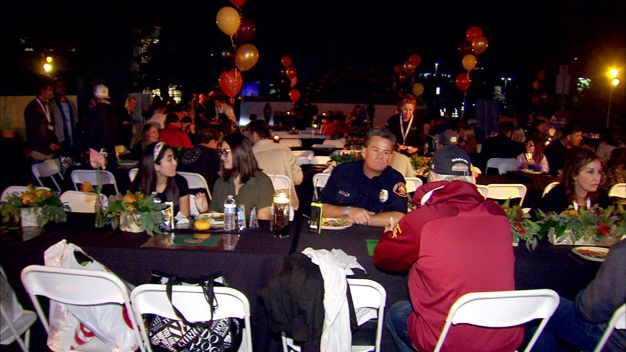 Its been a difficult week for residents and first responders in Thousand Oaks, but the community took its first steps at recovery by celebrating Thanksgiving a week early Friday.
