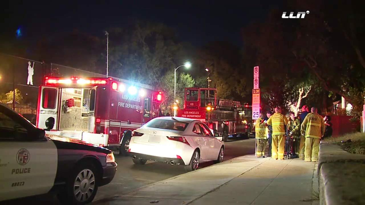 Three people were injured when gunfire broke out during a fight at a party at an Airbnb rental in Venice on Sunday, Dec. 13, 2015.