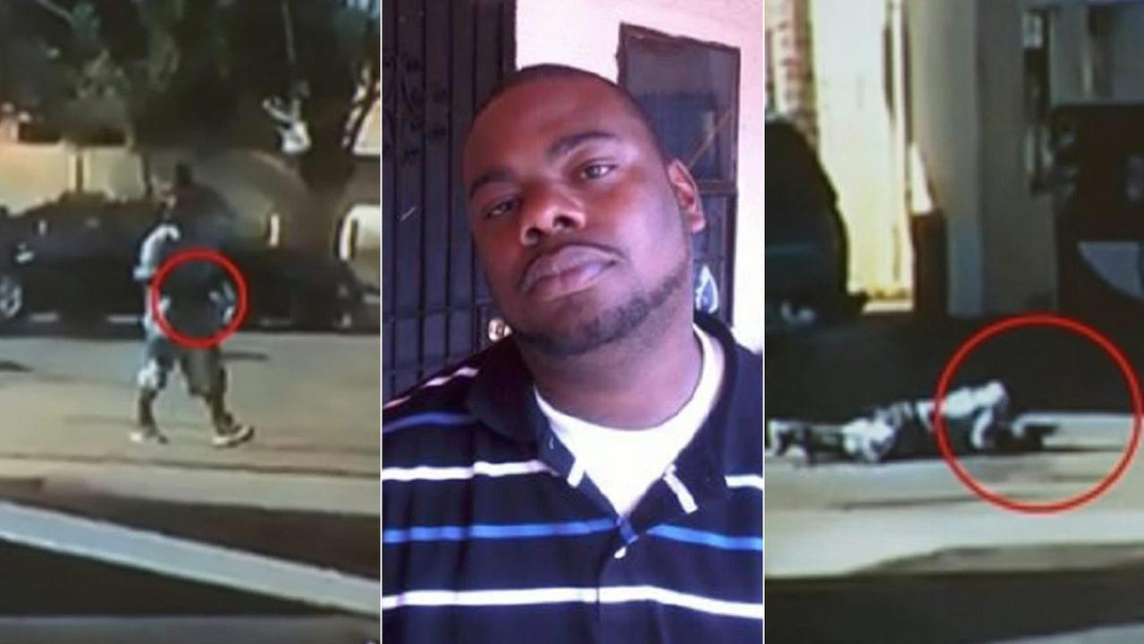 The L.A. County Sheriffs Department released two still images, far right and left, of Nicholas Robertson, center, before deputies shot and killed him Saturday, Dec. 12, 2015.