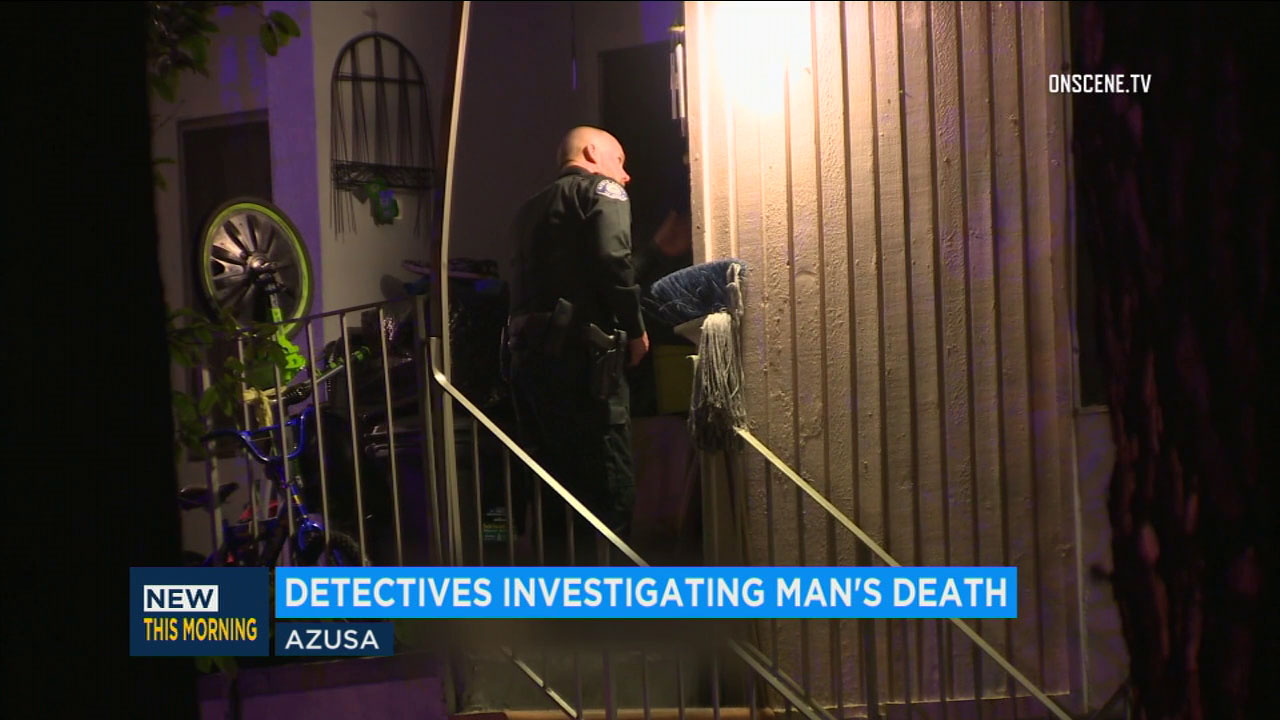 Police respond to a shooting death of a man in Azusa on Nov. 21, 2018.