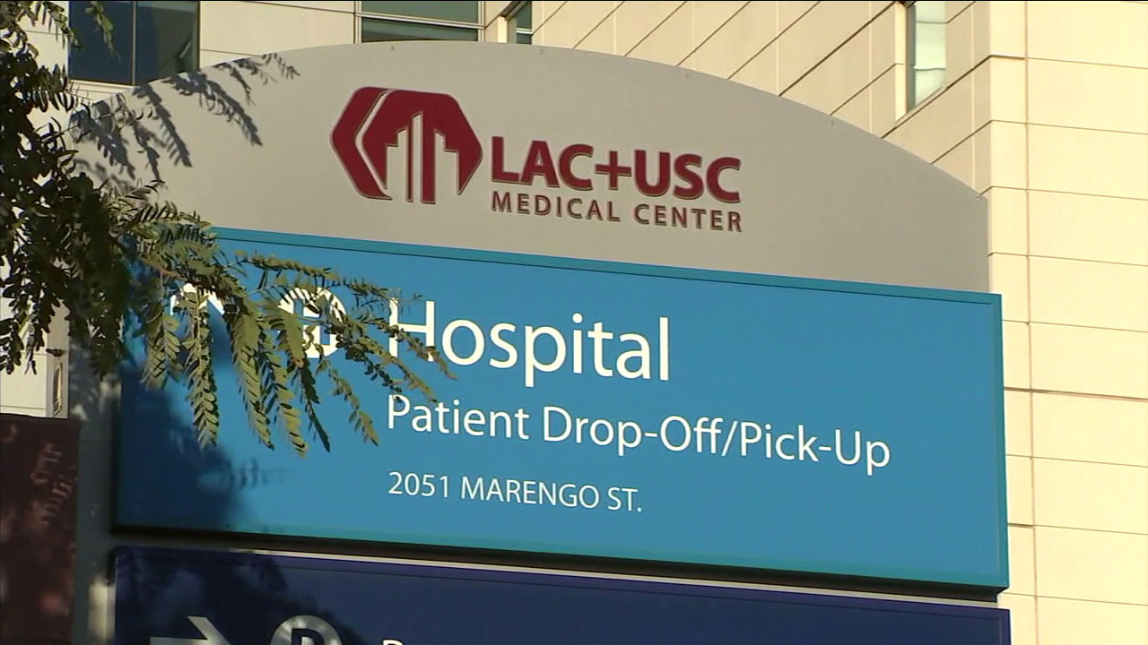 Los Angeles County+USC Medical Center is pictured above.