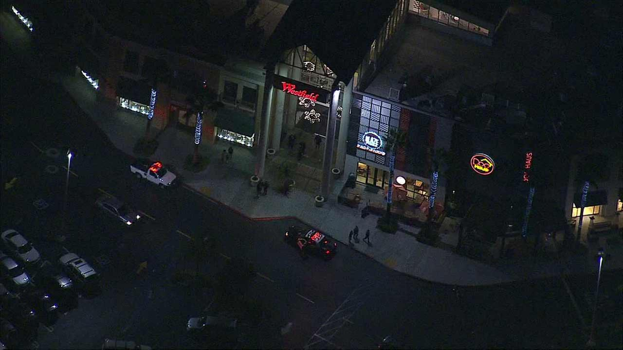 Santa Ana police respond to reports of shots fired at Westfield MainPlace in Santa Ana on Friday, Dec. 18, 2015.