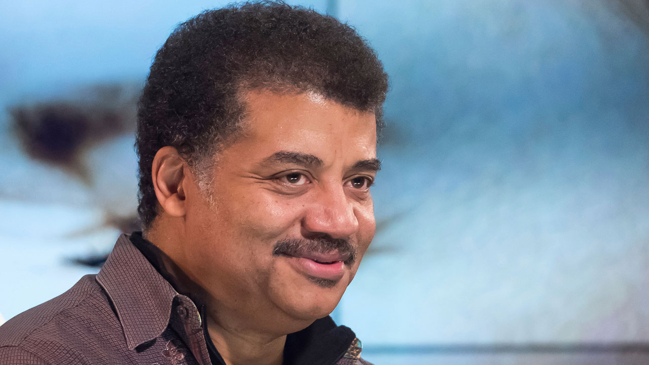 Neil deGrasse Tyson attends a fan event celebrating the release Kelly Clarksons album Meaning of Life at YouTube Space New York on Wednesday, Nov. 1, 2017, in New York.