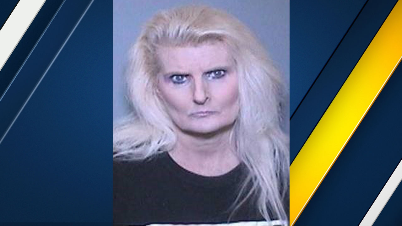 Denise Latta is shown in a mugshot provided by the Tustin Police Department.
