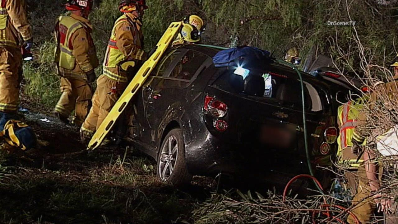 Four people, including a child, were killed in a car crash in San Diego County on Sunday, Dec. 20, 2015.