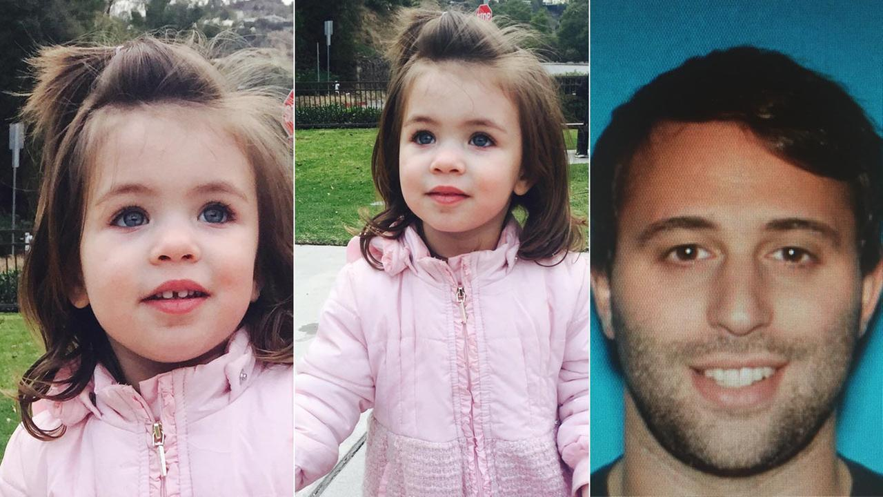Lucia Perry, 2, was abducted by her father, Jack Perry, 31, during a supervised visit in the 100 block of The Grove Dr. in the Fairfax District of L.A. on Thursday, Dec. 24, 2015.