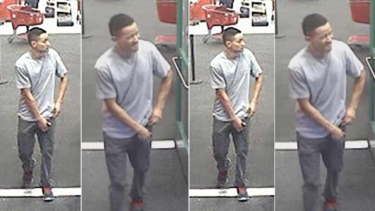 Surveillance photos show the male suspect who allegedly squeezed a girls buttocks inside a Target store in the 1800 block of W. Empire Avenue in Burbank on Sunday, Dec. 13, 2015.