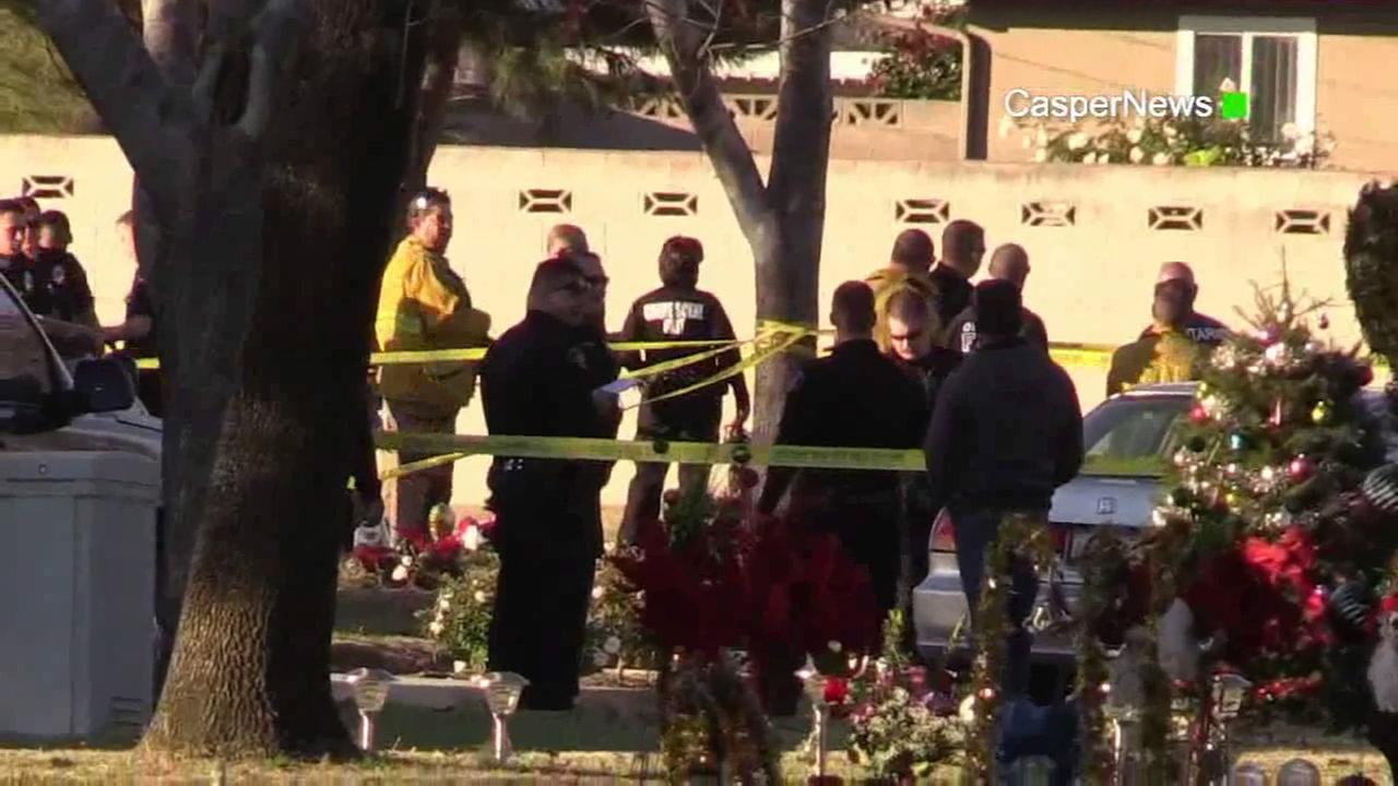 Three people were killed during an Ontario cemetery shooting, including the gunman, on Saturday, Jan. 2, 2016.