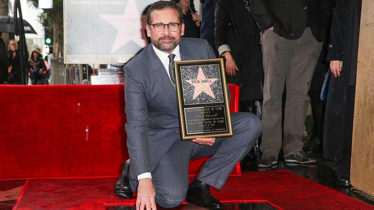 Steve Carell attends a ceremony honoring him with a star on the Hollywood Walk of Fame on Wednesday, Jan. 6, 2016, in Los Angeles.