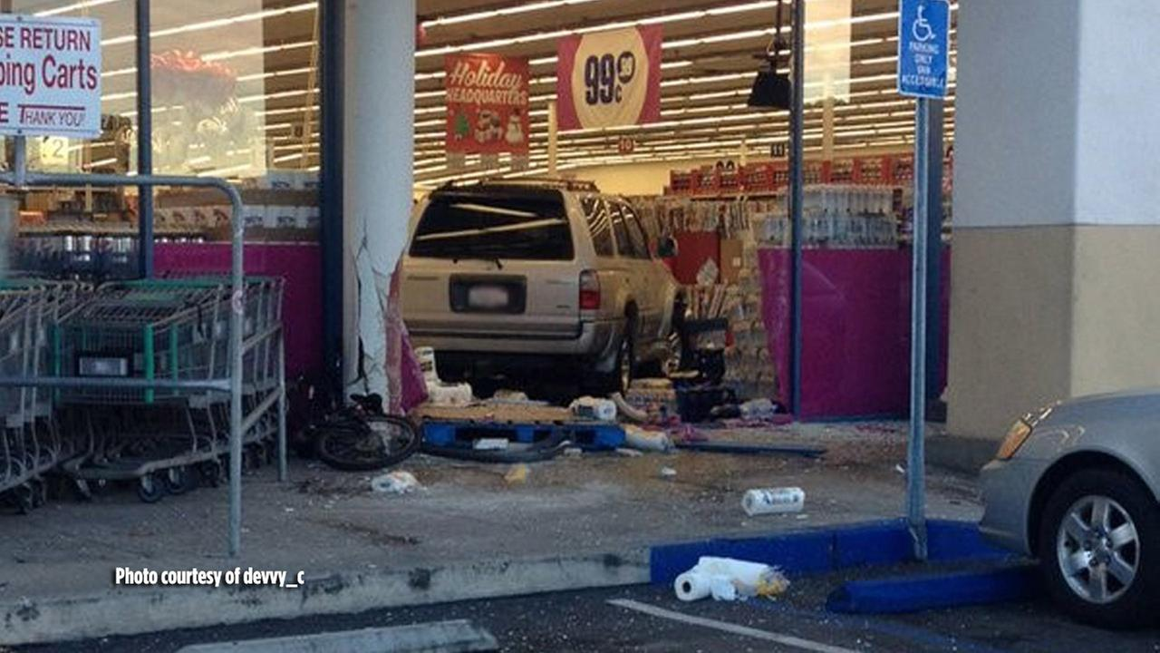 SUV Crashes Into 99 Cents Only In San Clemente