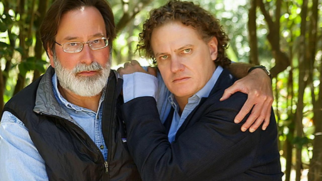 Richard Martinez (left) poses with Peter Rodger (right). The two met June 1, 2014, after their sons died in the Isla Vista massacre.