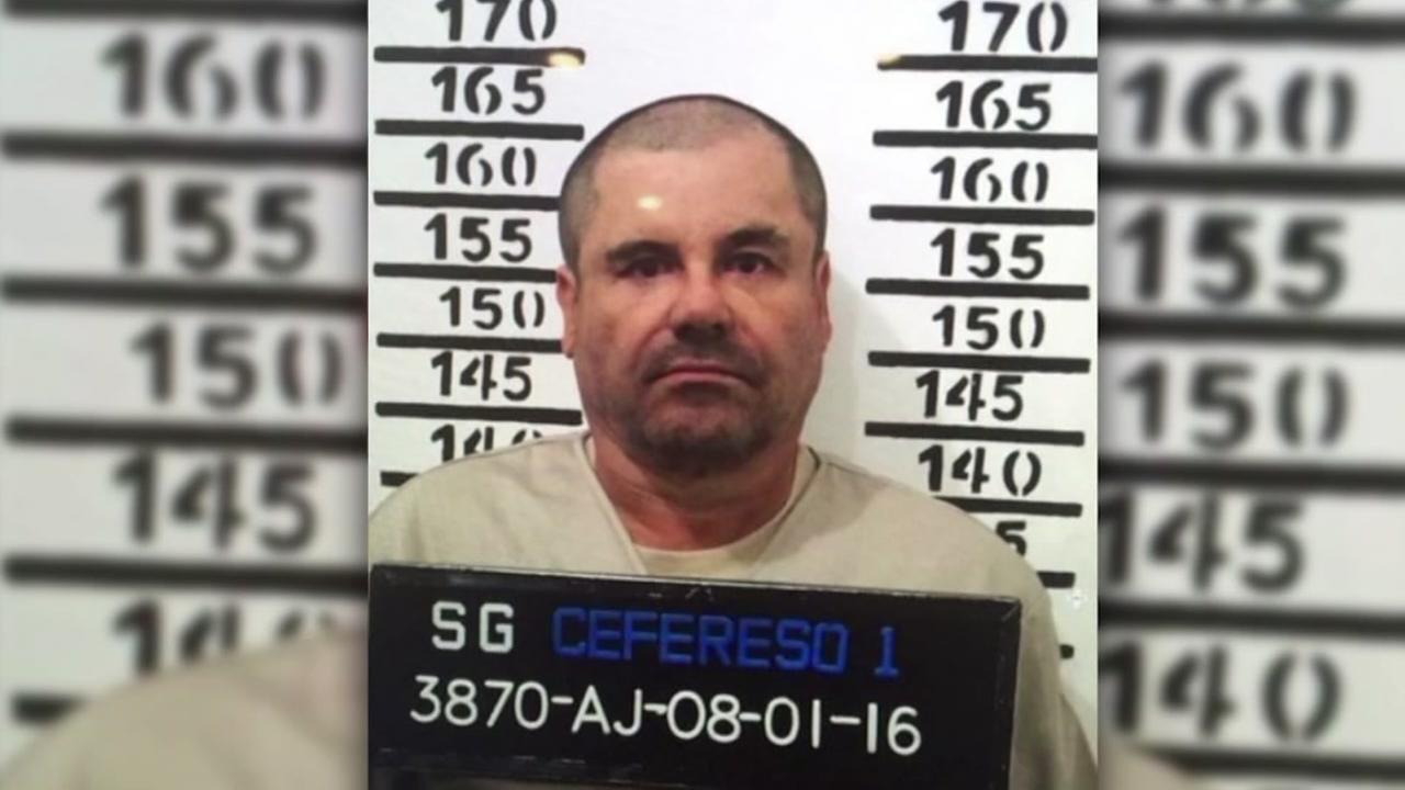 Joaquin El Chapo Guzman, stands for his prison mug shot with the inmate number 3870 at the Altiplano maximum security federal prison in Almoloya, Mexico, Jan. 8, 2016.