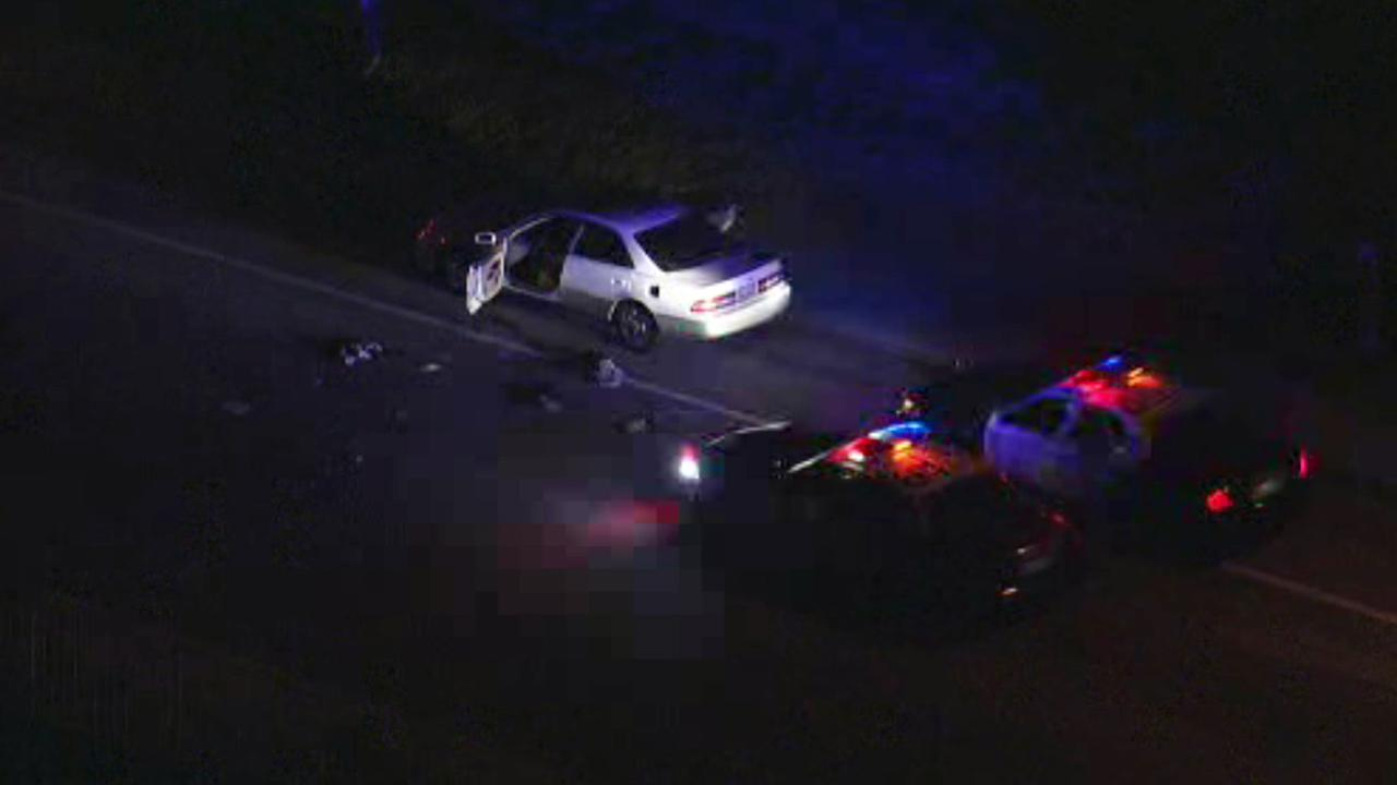 A man was shot by deputies with the Los Angeles County Sheriffs Department at Shangri-La Drive and Nathan Hill Drive in Santa Clarita on Thursday, Jan. 14, 2016.