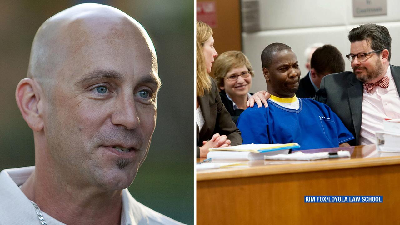 Bruce Lisker (right) and Kash Delano Register (left) received a $24.3 million settlement after each serving more than 25 years in prison for murders they did not commit.