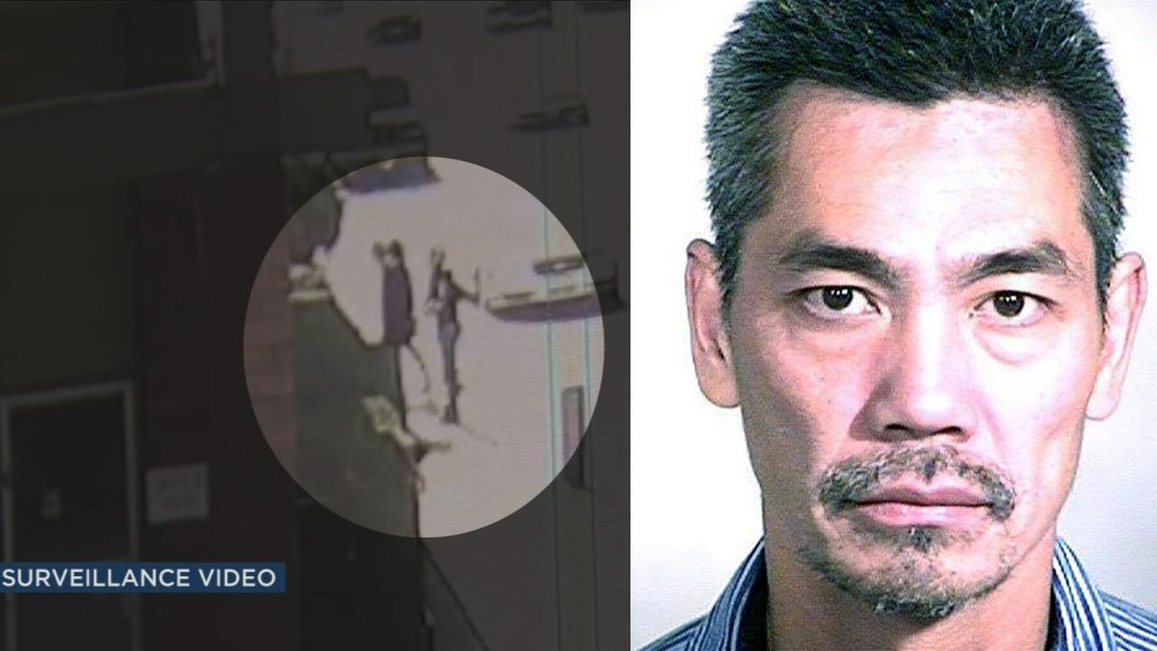 Surveillance video shows Bac Duong, one of the three inmates who escaped from Orange County Central Mens Jail, being taken into custody on Friday, Jan. 29, 2016.