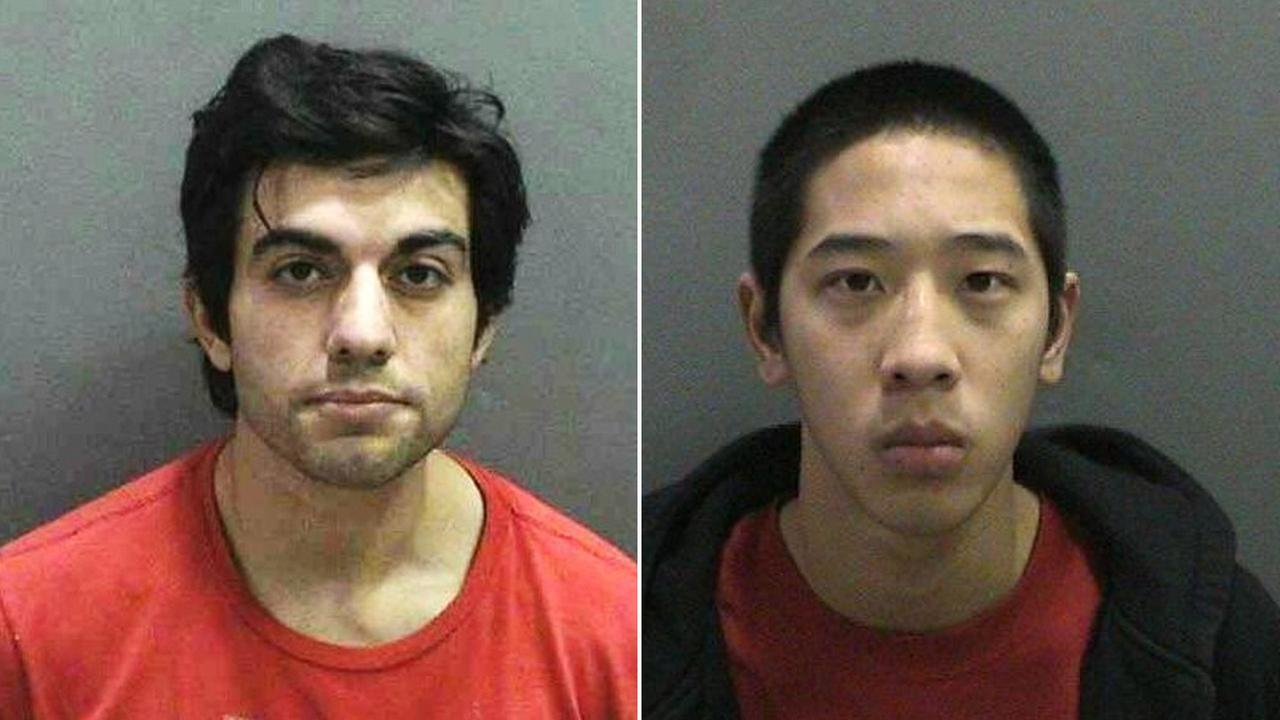 Hossein Nayeri, 37, and Jonathan Tieu, 20, are shown in undated mugshots.