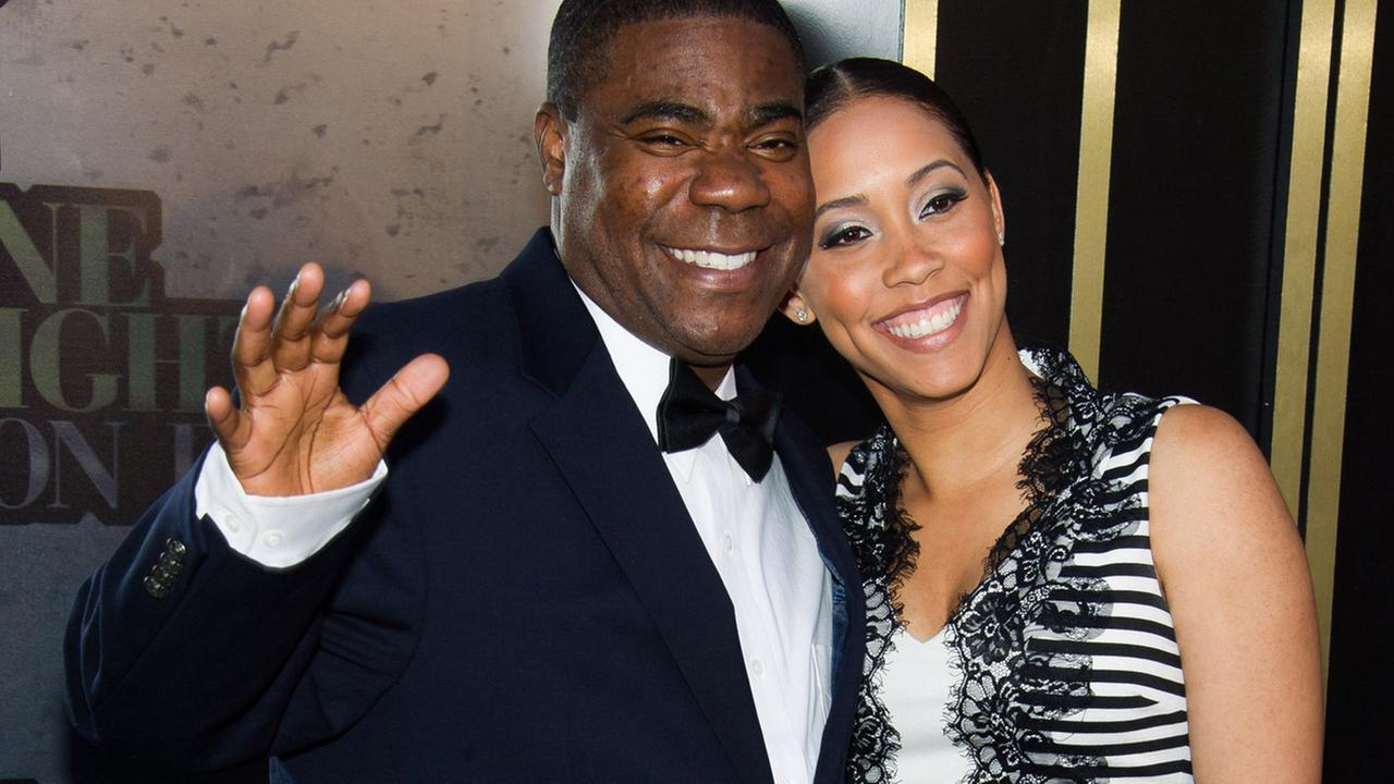 Tracy Morgan and Megan Wollover attend One Night Only: An All-Star Tribute To Don Rickles on Tuesday, May 6, 2014 in New York.