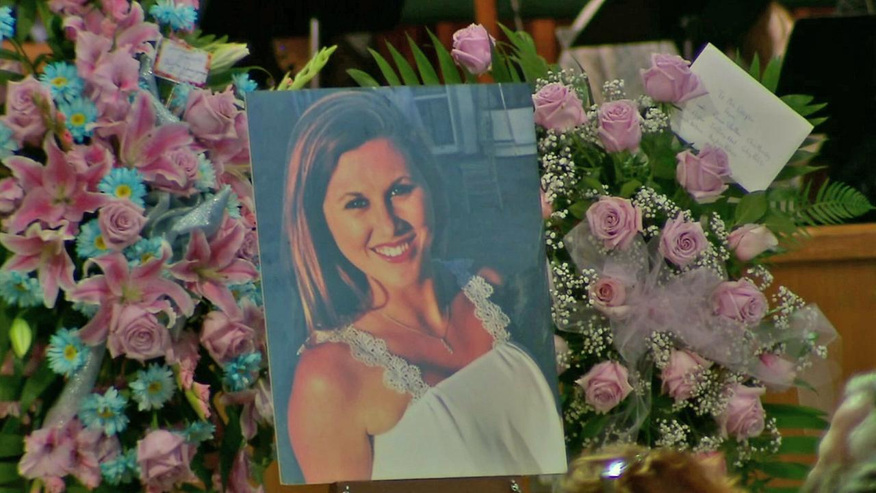 A photo of Katie Cooper is displayed during her memorial Monday, June 16, 2014. She was killed in the Isla Vista massacre in May 2014.