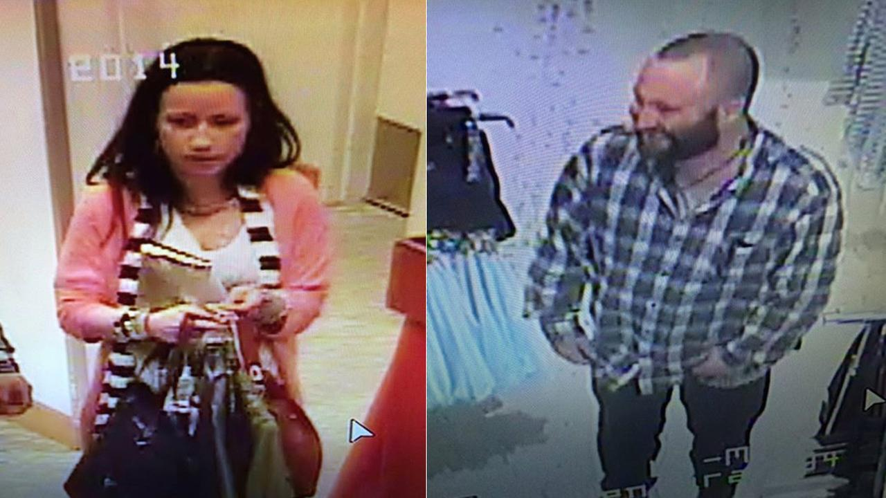 Police are searching for two suspects in connection to a high-dollar theft at a Macys department store in the 400 block of S. Mills Road in Ventura Saturday, Jan. 30, 2016.