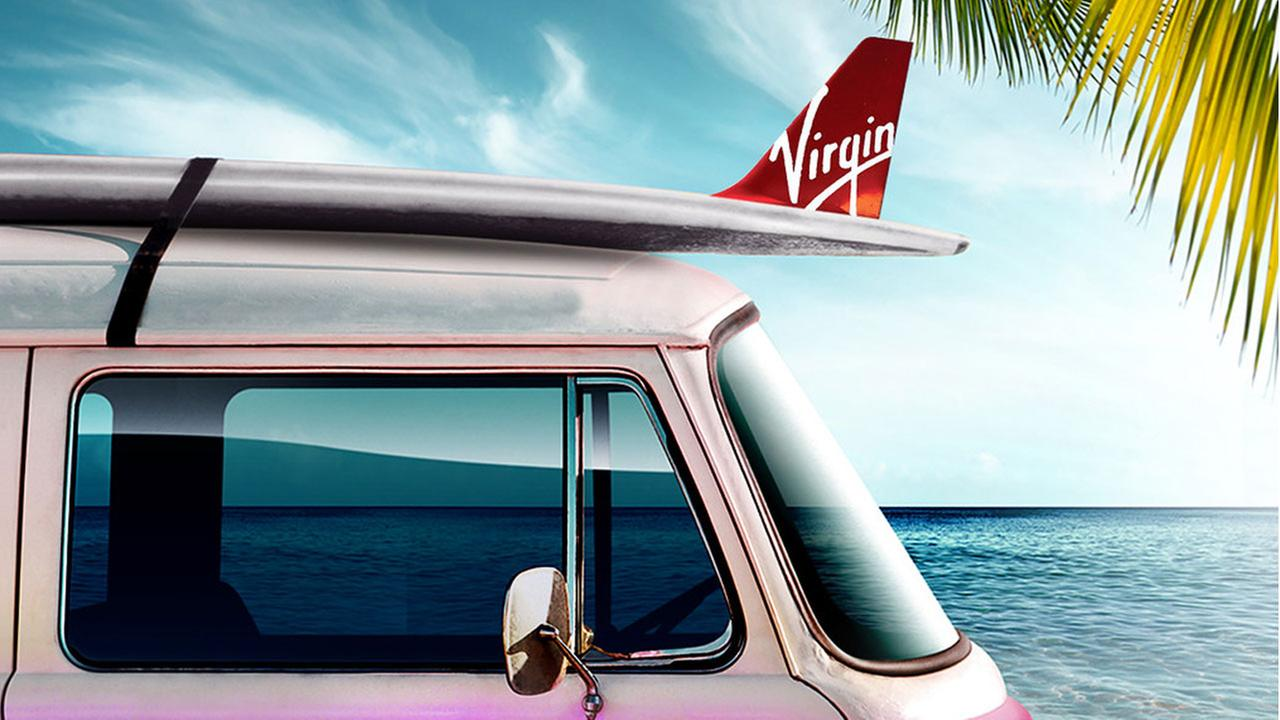 Virgin America released this illustration to highlight its new nonstop flights to Hawaii from LAX.