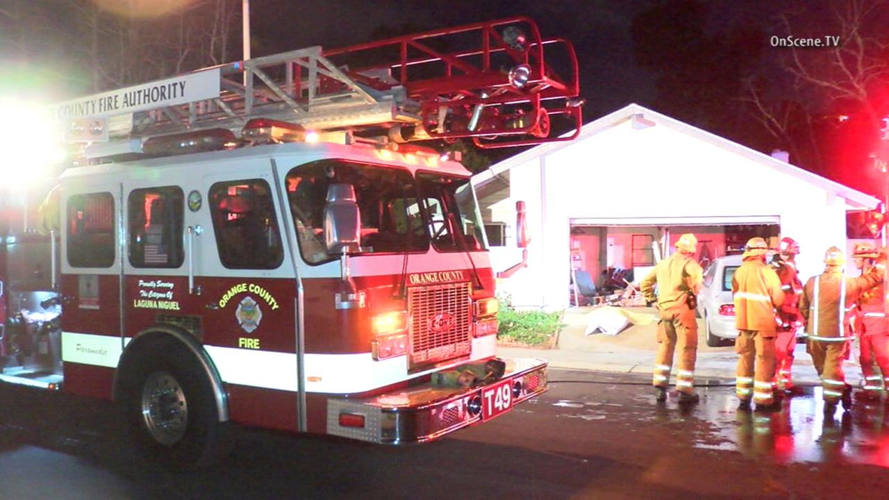 A man died following a fire at a single-story home in the 29000 block of Edgewood Road in San Juan Capistrano Tuesday, Feb. 2, 2016.