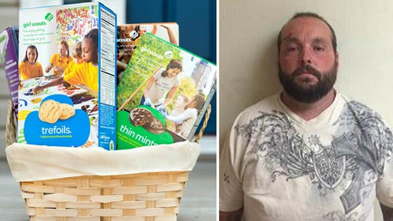Hemet police said a box of Girl Scout cookies aided in the arrest of 31-year-old Joseph Kopff for felony reckless evading on Thursday, Feb. 4, 2016.