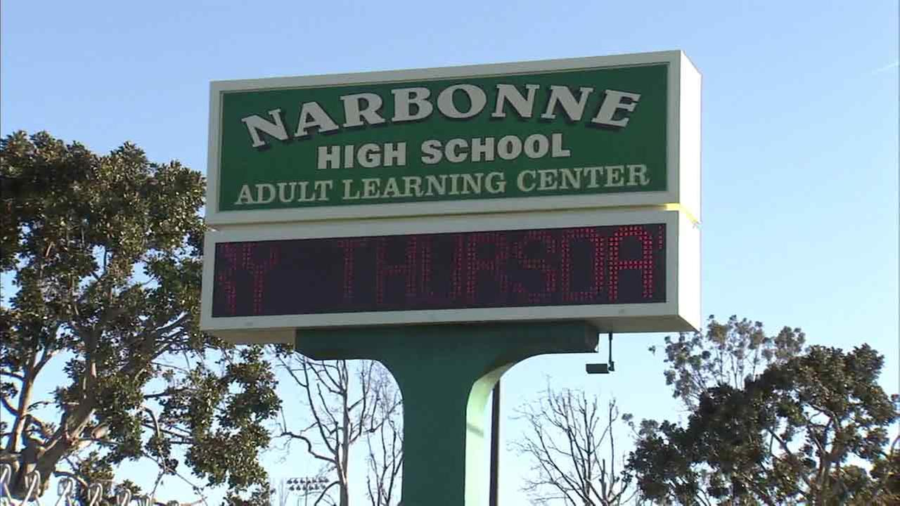 A fight involving students and parents broke out at Narbonne High School in Harbor City, Los Angeles on Thursday, Feb. 4, 2016.