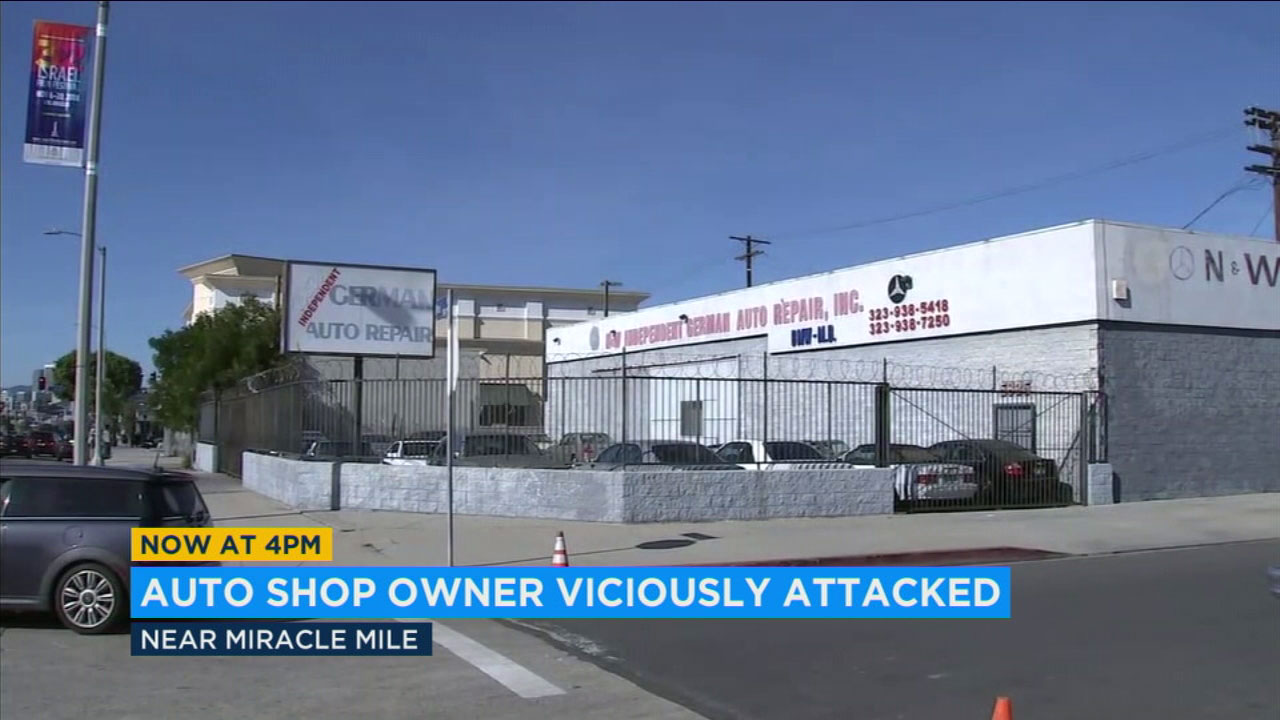 The owner of N&W Auto Repair in Los Angeles is fighting for his life after his throat was slashed in a vicious attack and robbery.