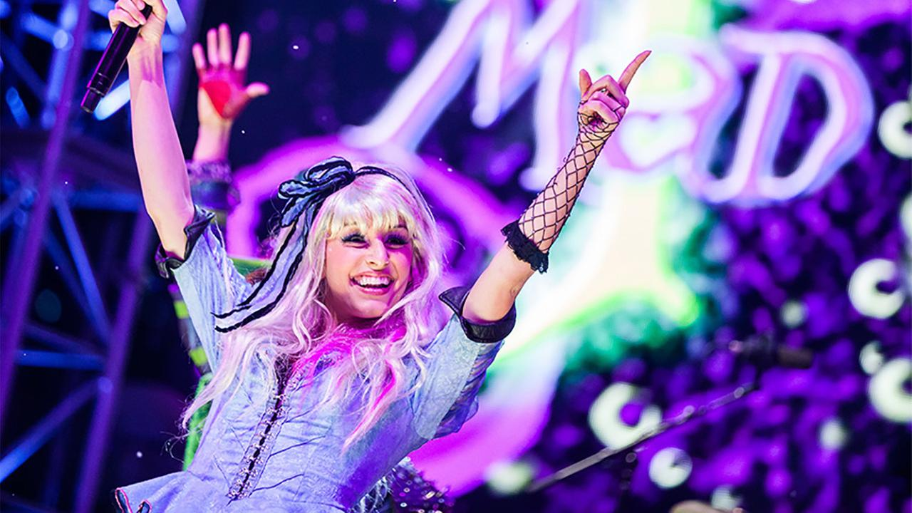 The Mad T Party band performs during the Mad T Party at Disney California Adventure in Anaheim in this undated file photo.