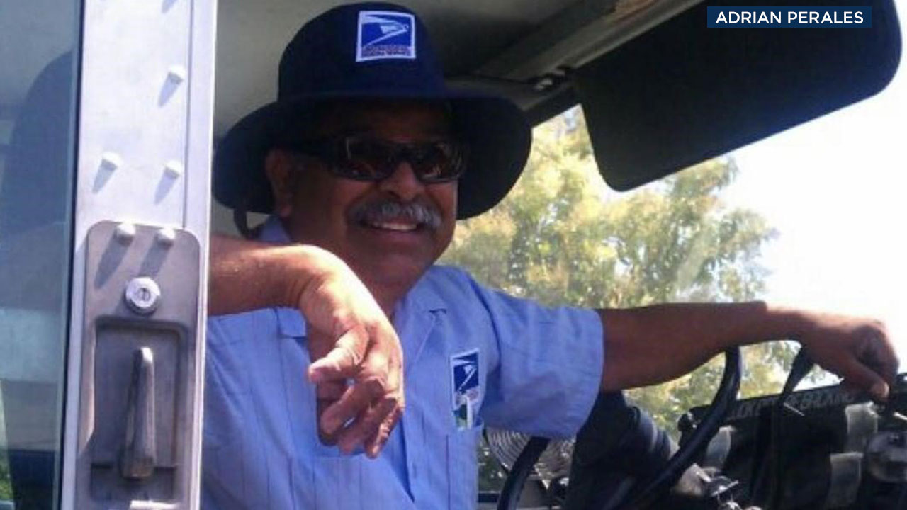 Joel Perales is shown in his USPS uniform in a photo provided by his family.