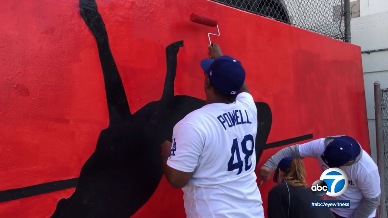 The Dodgers and United Healthcare teamed up to help renovate an athletic field at Nightingale Middle School in Los Angeles.