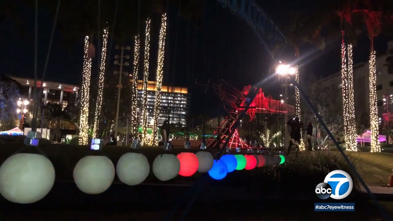 Winter Glow in downtown LAs Grand Park offers 22 art installations to climb and explore.