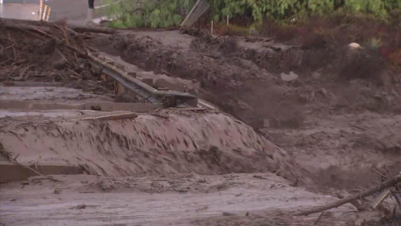 Rain caused major flooding and debris flow in Trabuco Canyon on Thursday, Dec. 6, 2018.