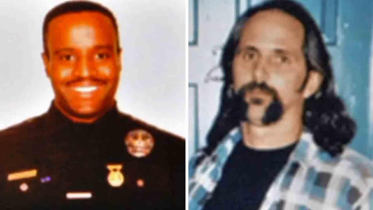 LAPD officer Kevin Gaines (left) was fatally shot by LAPD Detective Frank Lyga (right) in 1997.