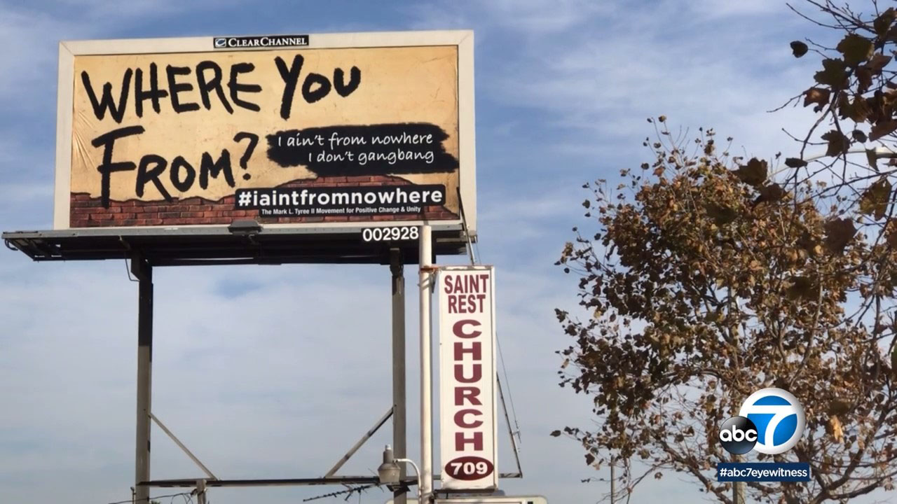 A new anti-gang campaign is popping up on billboards in LA.