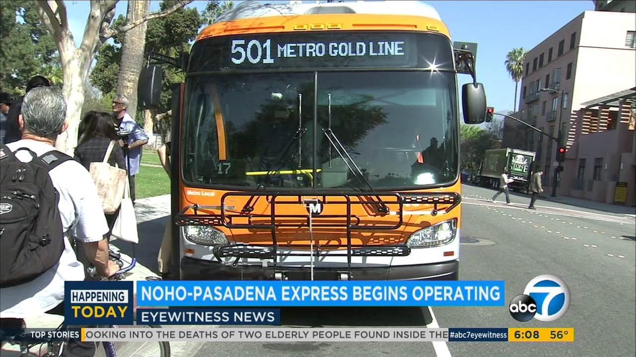 Metro has launched a new express bus line from North Hollywood to Pasadena.