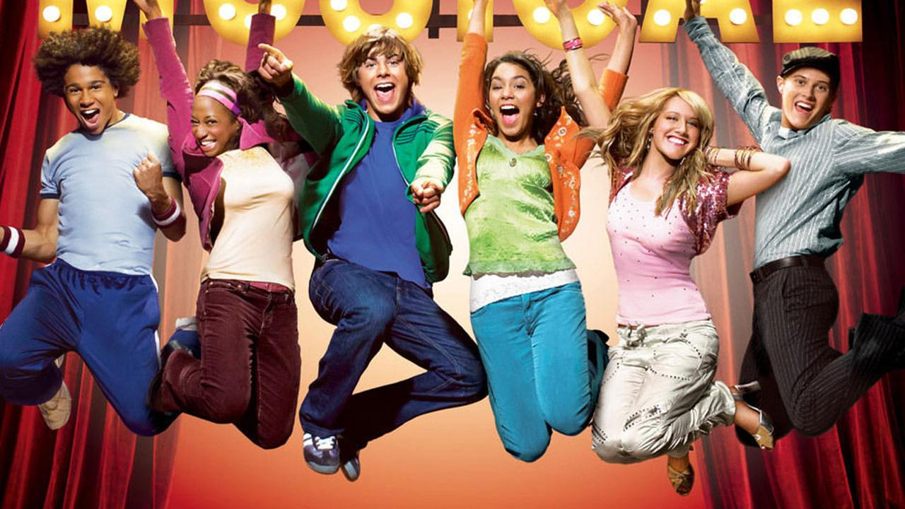 A promotional posted from the original High School Musical is shown.