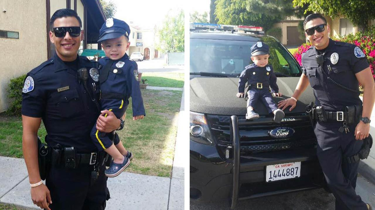 Officer Mike Gradilla has won some attention online with a viral Facebook post.