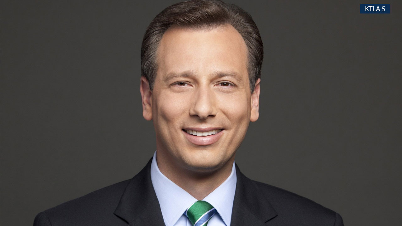Chris Burrous, 43, is shown in a professional photo for KTLA 5.