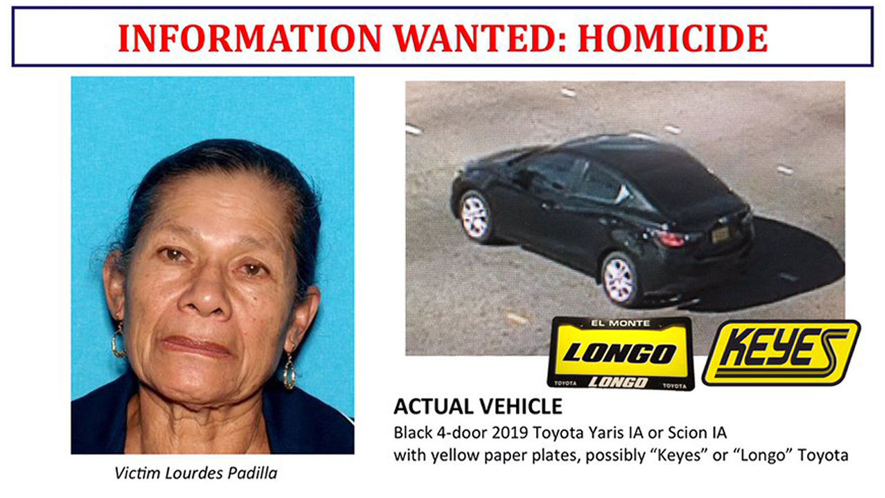 Lourdes Padilla died two days after she was shot by a woman trying to steal her purse in Inglewood on Christmas Day 2018.