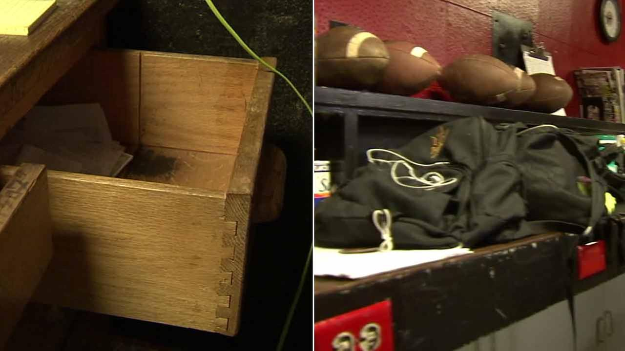 About $7,000 in cash and checks stored inside a football coachs office in Reseda is all gone, and hes asking for the publics help to get the funds back for his team.